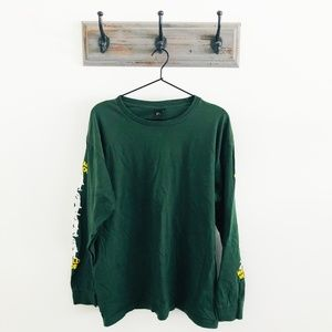 Obey Total Chaos Green Long Sleeve T-Shirt L